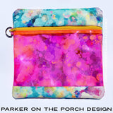 Digital Download - Square Splash Bag Set - in the hoop machine embroidery ITH pattern