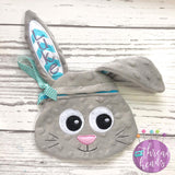 Digital Download- Bunny Zipper Bag - Parker on the Porch
