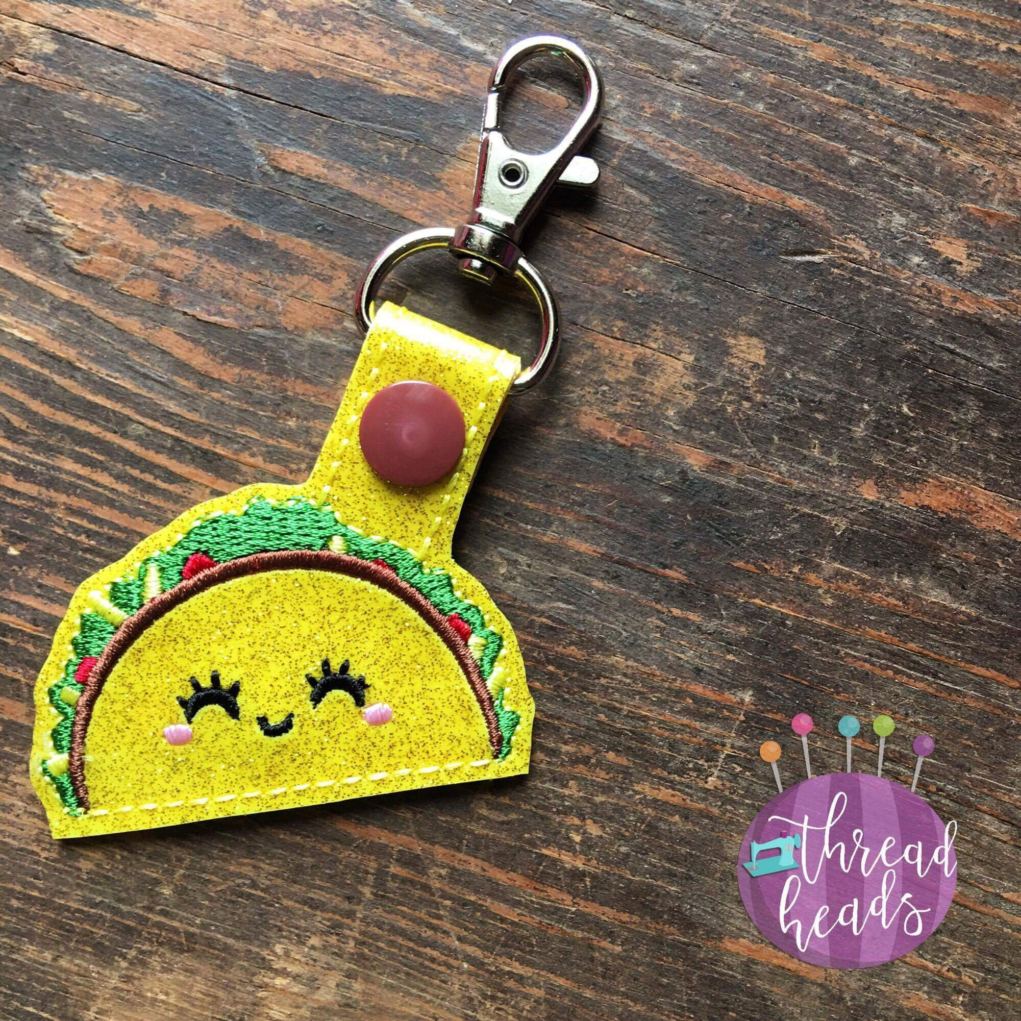 Digital Download- Taco Snaptab - in the hoop machine embroidery