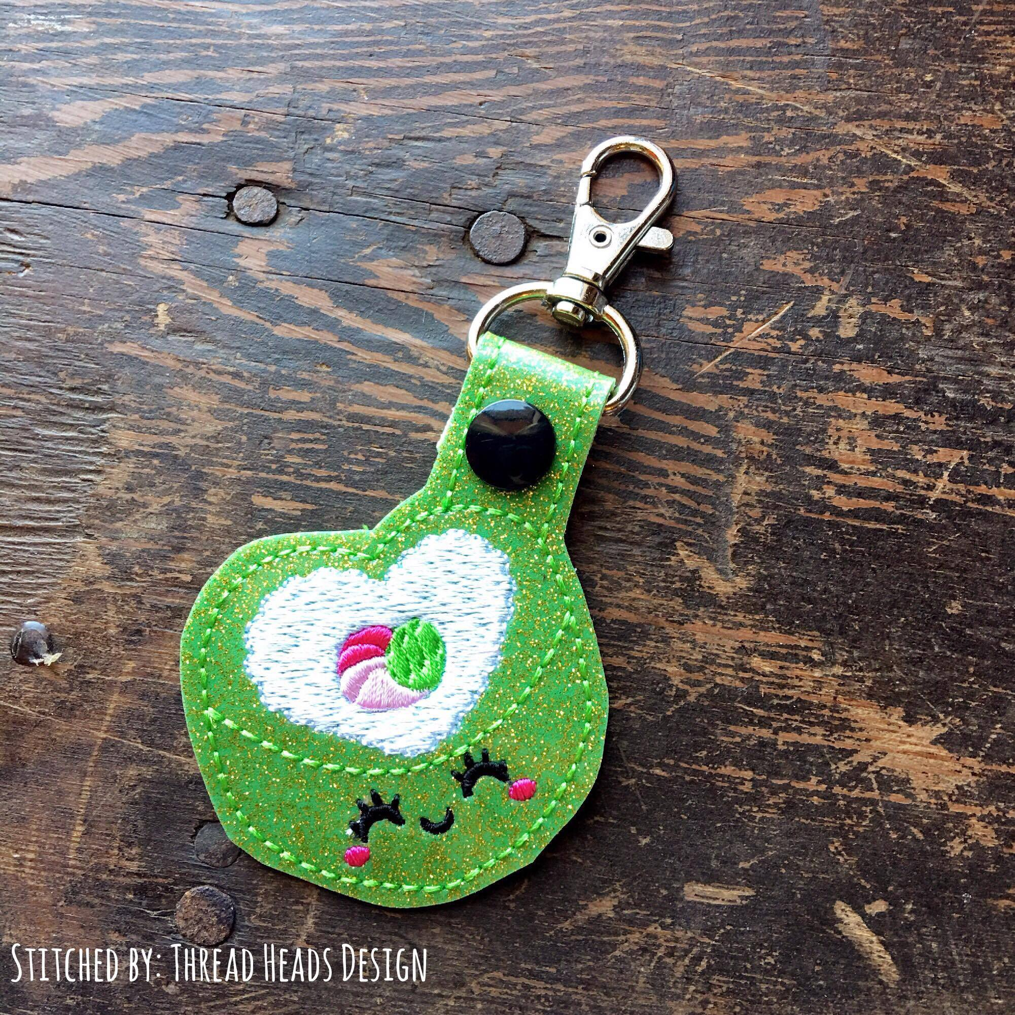 Digital Download- Heart Sushi Snaptab - in the hoop machine embroidery