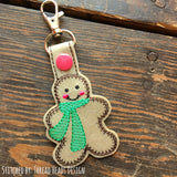 Digital Download- Gingerbread Man Snaptab - in the hoop machine embroidery ITH pattern