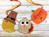 Digital Download- Pilgrim Chick ITH Banner - in the hoop machine embroidery