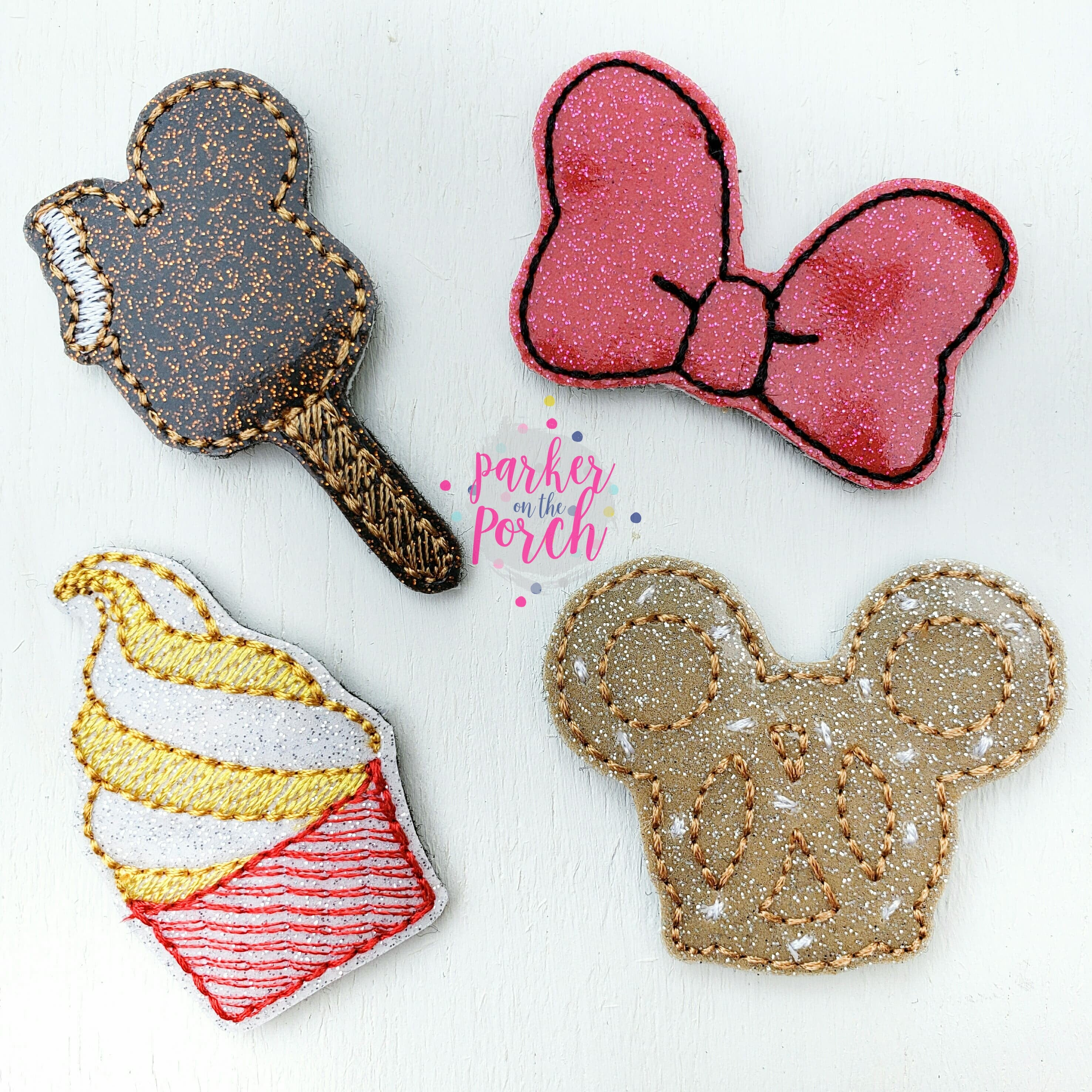 Digital Download- Magical Snacks Feltie Set - in the hoop machine embroidery ITH pattern
