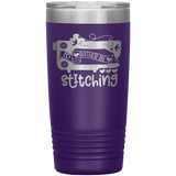 POP Swag- I'd Rather Be Stitching -  20oz Tumbler - in the hoop machine embroidery ITH pattern