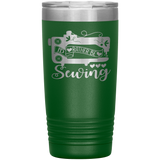 POP Swag- I'd Rather Be Sewing - 20oz Tumbler - in the hoop machine embroidery ITH pattern