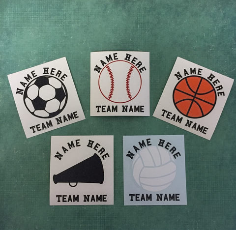Custom Sports Decal