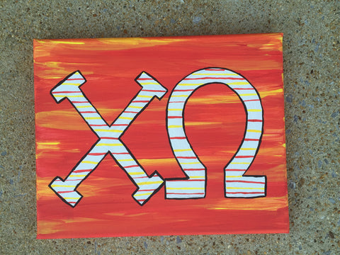 Chi Omega 8x10 Canvas Painting
