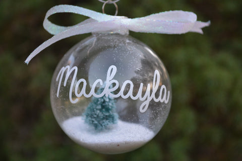 Monogramed Christmas Tree Ornament