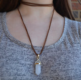 Wrap Necklace with Pendant
