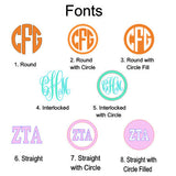 Round Dotted Monogram
