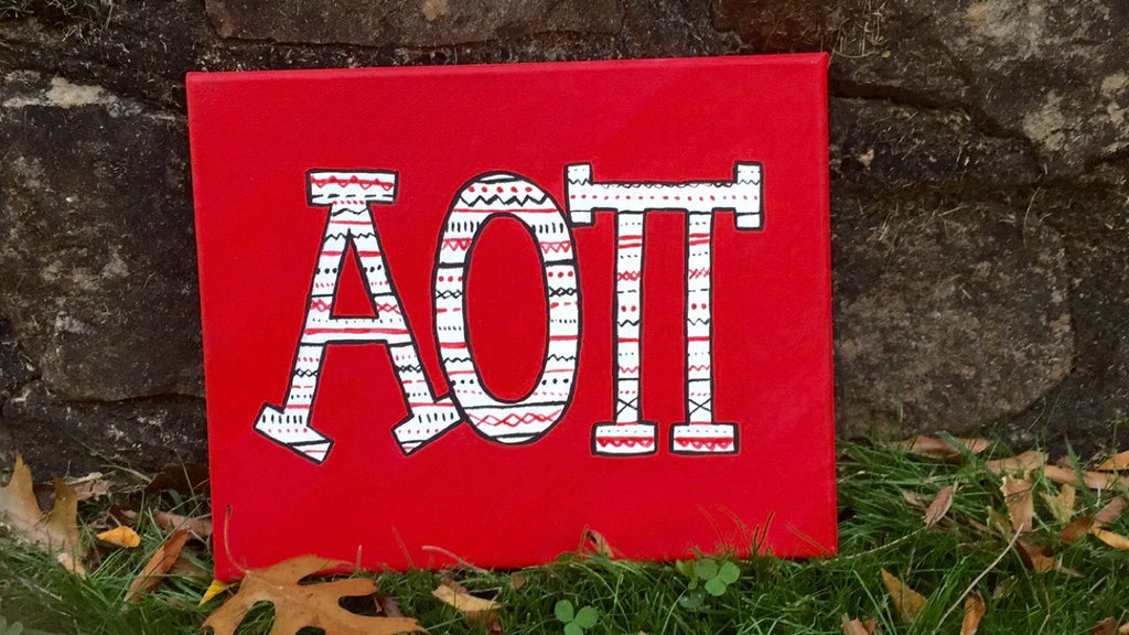 Alpha Omicron Pi 8x10 Canvas Painting
