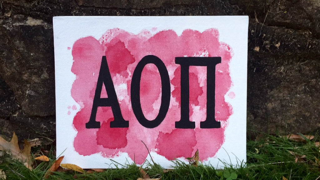 Alpha Omicron Pi 8x10 Flat Canvas Painting