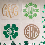 St Patrick's Day Monogram