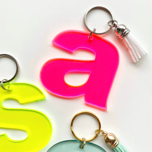 Lowercase Letter Keychain