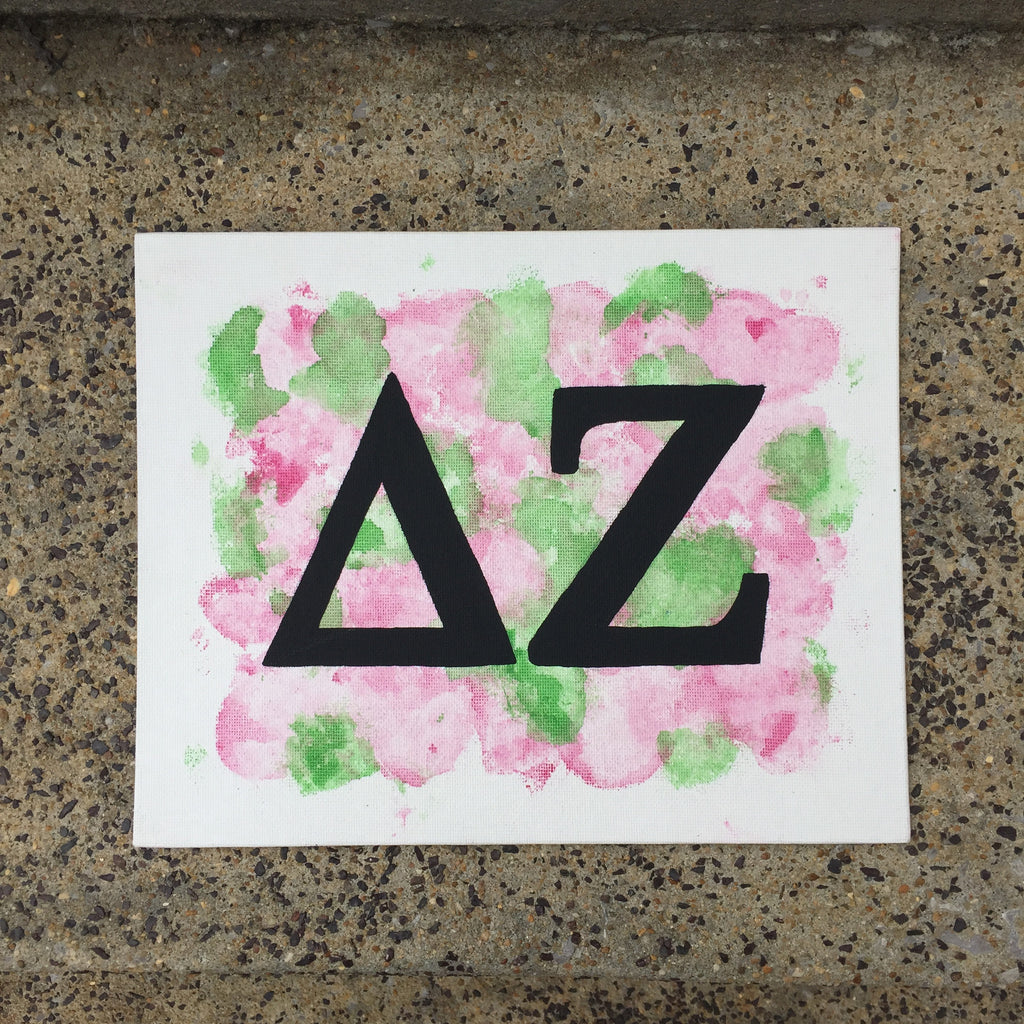 Delta Zeta 8x10 Flat Canvas Painting