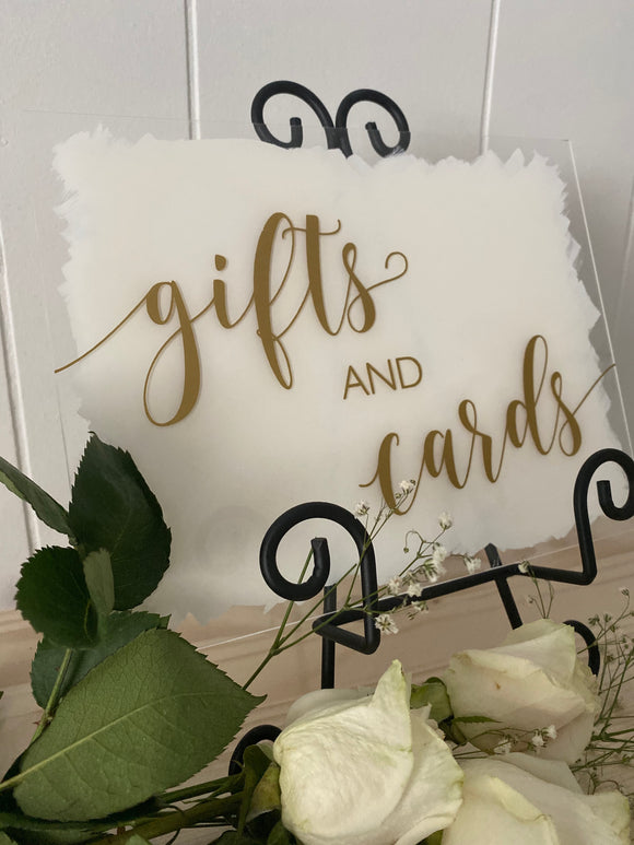 Gifts & Cards Acrylic Sign