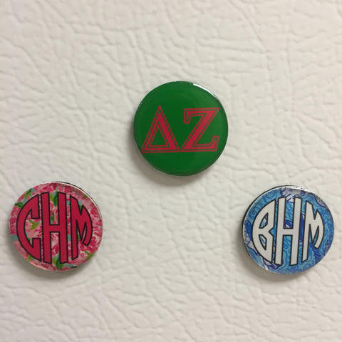 1in Monogrammed Magnets