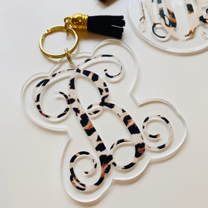 Patterned Letter Keychain