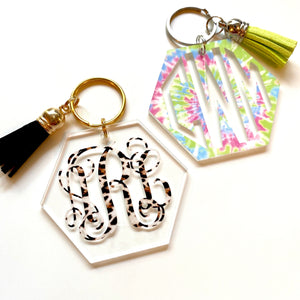 Hexagon Patterned Keychains