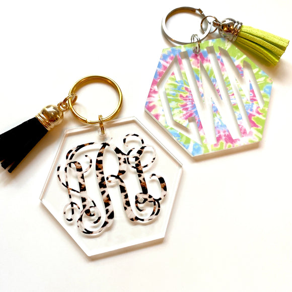 Hexagon Patterned Key Chains