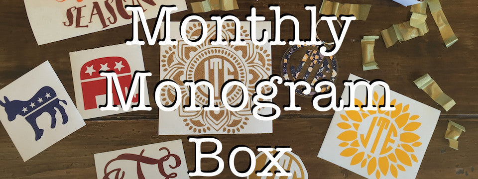Monthly Monogram Box
