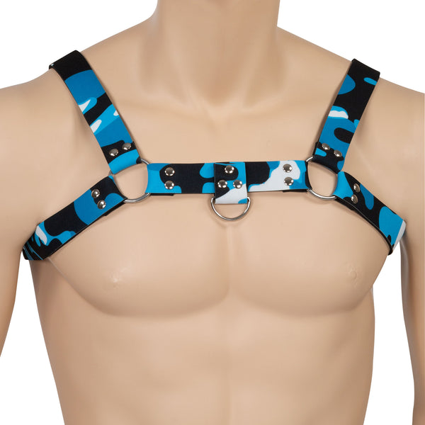 Blue Camo Neoprene Harness