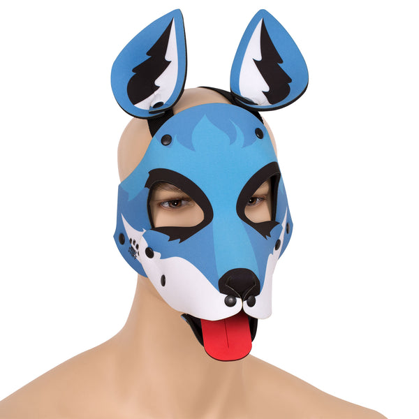 Blue Neoprene Fox Hood