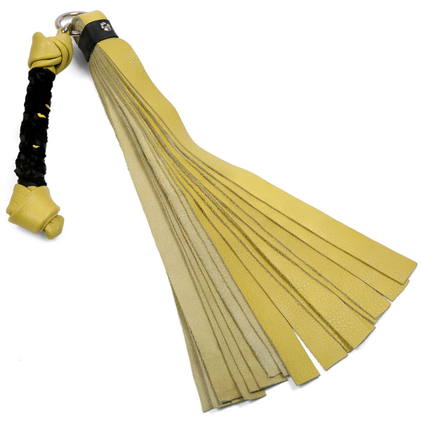 Yellow Leather Dog Bone Flogger