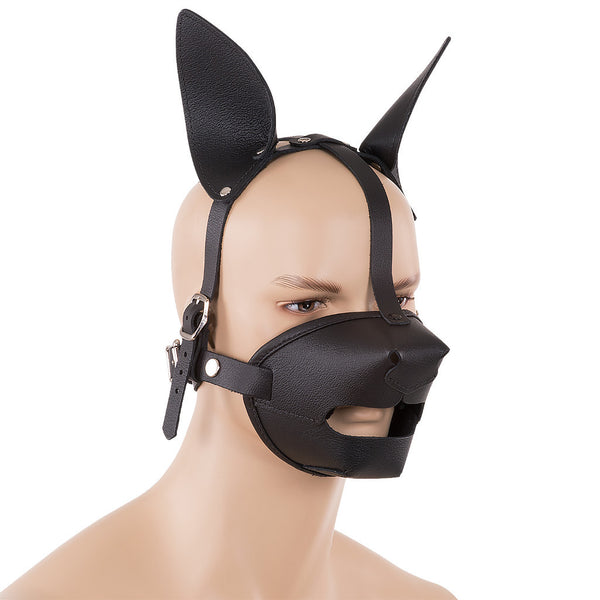 Leather pup play mask