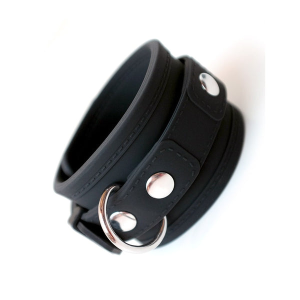 Black silicone cuff restraint with D ring