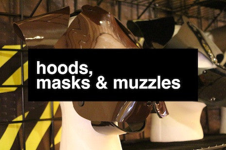 Puppy, kitten, and fox play hoods, masks and muzzles