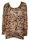 EVIL TWIN - ANIMALIA PRINTED JUMPER IN MULTI