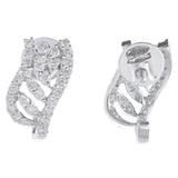 Beautiful Curvy Loop Diamond Earrings