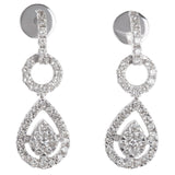 Beautiful Pear Shaped Dangling Diamond Earrings