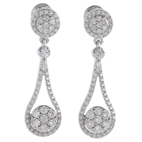 Beautiful Tear Drop Hanging Diamond Earrings