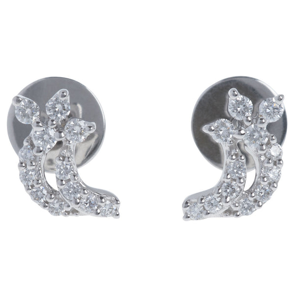 Comet Trail Diamond Stud Earrings