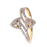 Fire and Water Diamond Ring