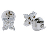 Four Diamond Stud Earrings