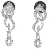 Leaf Dangling Diamond Earrings