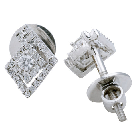 Nested Diamond Stud Earrings