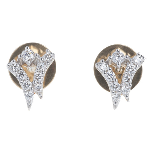 Victory Stud Diamond Earrings