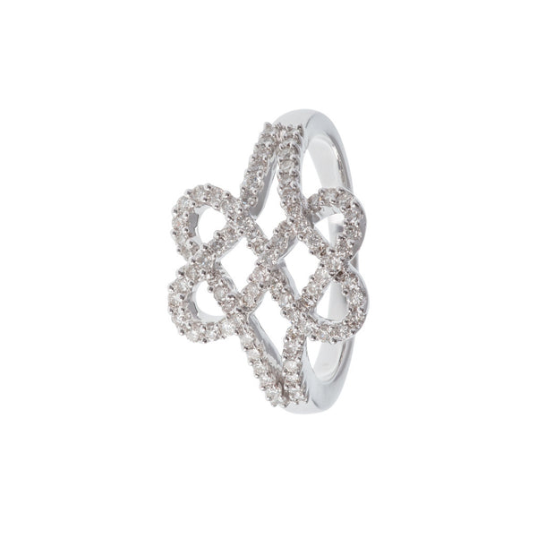 Cross My Heart Diamond Ring
