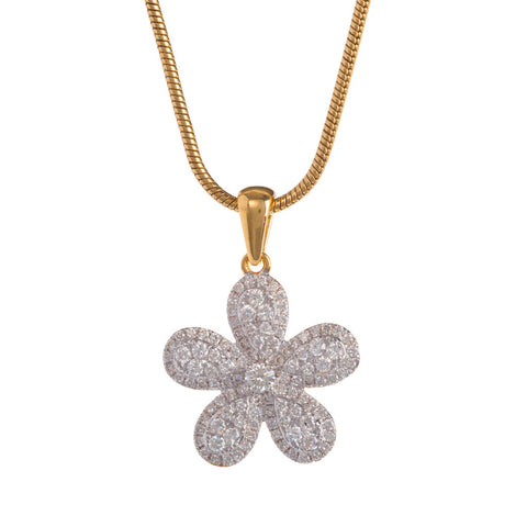 Five Petal Diamond Pendant