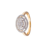 Halo Triband Diamond Ring