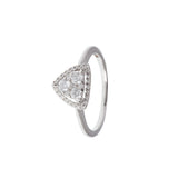 Halo Tristar Diamond Ring