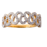 Horseshoe Band Diamond Ring