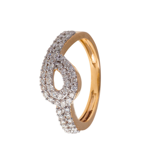Lean-in Diamond Ring