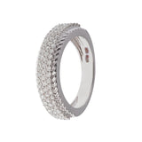 Micro Pave Braided Diamond Ring
