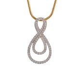 Nested Infinity Diamond Pendant