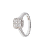 Quartet Square Diamond Ring